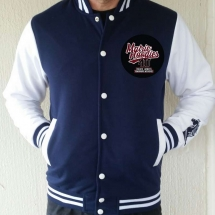m_Fleece studded Baseball Jacket